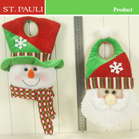12 inch red green snowman santa 2 designs assorted christmas door hangers