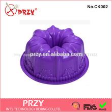 Pastel de molde para hornear/kouglof de silicona molde de la torta