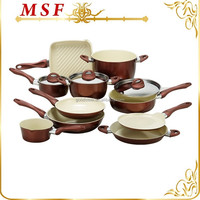 high quality multi-used carbon steel ceramic coating cookware sets kitchen MSF-6438