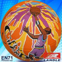 New arrivial rubber bladder basketball indoor basketball equipment brilliant school basketball