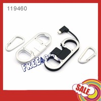 promotional high quality v8 micro usb cable +bottle opener with the package