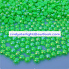 full size and colors fancy light green AB color plastic half pearl beads for docaration