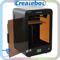 Createbot brand 2015 new single extruder 3d printer 3d glass printing machine