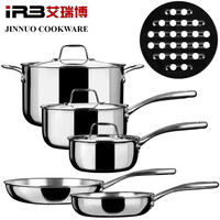 9 pcs 3-ply stainless steel cookware set made in japan as seen on tv cooker