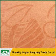 High quality Custom logo Flocking microfiber polyester polyamide fabric cloth