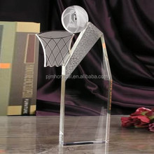 crystal basketball trophy for sports gift MH-JB033