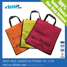 2015New design recyclable promotion nonwoven laminated shopping bags