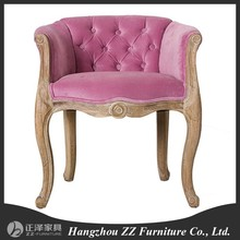 upholstery tufted button hand carved wood make up chair