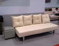 Sofa Dealer Divan Sofa Bed With Beige Fabric For Surpermarket