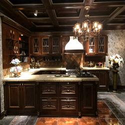 solid wood kitchen cupboard design