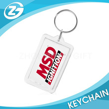 New Design Fashionable Hot Sell Clear Acrylic Keychains With Photo Insert