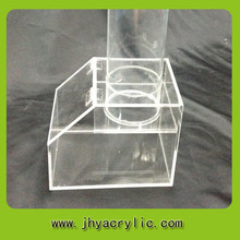 Fábrica personalizado acrílico caixa de doces, doces de plástico recipientes, vidro acrílico distribuidor de doces