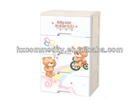 4-layer large plastic baby clothing drawer organizer