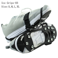 Spikes Grips Snow Ice Shoes Boots Rubber Metal Studded for Anti Slips Covers