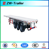 3 axle 40feet 12500mm flatbed container semi trailer , trailer container , trailer chassis for sale