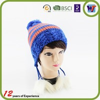New Fashion Good Looks Custom Cute Crochet Beanie Hat With Braid