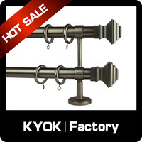 decorative curtain rods wall bracket for curtain pipes rods tube poles,popular metal curtain rods
