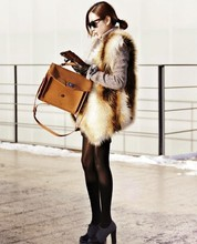 Hot! Fashion New European style green/ New winter / Imitation fox fur coat / fox fur vest /Wholesale