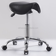 Dental/Tatto/Salon/Office/Spa Black Saddle Stool with Smooth Tilting Functtion