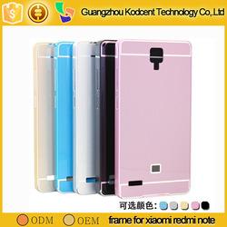 mobile phone aluminium metal bumper case cover for xiaomi redmi note