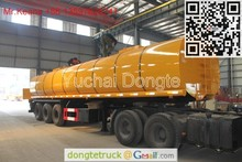 Liquid asphalt tanker semi trailer exported to Kazakhstan +86 13597828741