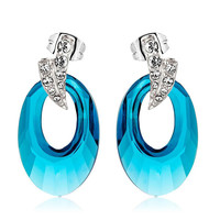 OUXI bulk sale crystal wholesale earrings, crystals from Swarovski