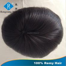 Cheap wholesale price human remy grey hair men toupee