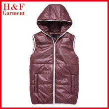 Cheap waistcoat men's casual body warmer with polyester