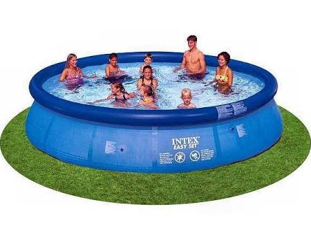 Intex easy set above ground swimming pool buy swimming for Purchase above ground swimming pool