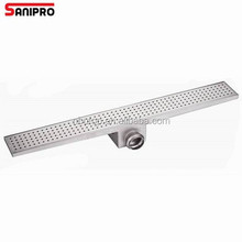 Convenient stainless steel shower trench drain grating cover