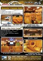 NEW CAR TOYOTA HIACE 2.7 Pet. LHD Super VIP 5 seats ABS Luxury Van modified