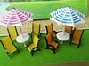Sun Umbrella , 1:100 Scale Aprox. N For Model Railroads Scenery & Trains