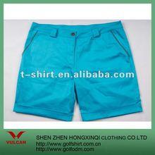Vintage Washed Cotton Ladies Shorts 2012 Blue Color