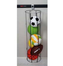 Vertical Ball Rack Wall Mount Storage Organization System For Basketball