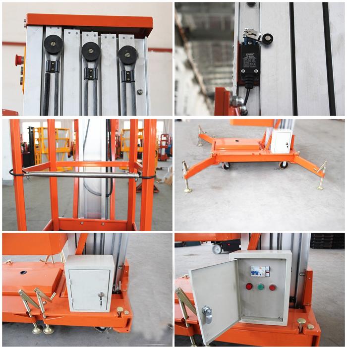 Hydraulic Vertical Lift : M aluminiun manual hydraulic mobile vertical lift