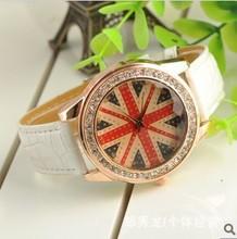 British Lunmi word big dial watches diamond watches female Korean students Korean fashion retro full diamond fashion watch