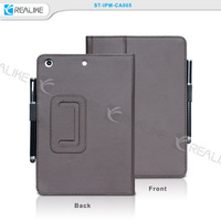 PU leather hand strap design for ipad mini 2 tablet case with pen holsder