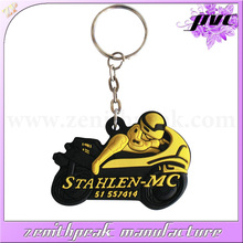 high quality motorcycle promotion pvc keychain victory