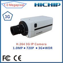 HICHIP H.264 1.0 Megapixels 3G Wireless IP Camera,720P WDR HD Box IP Camera built-in 3G wireless network module