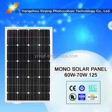 12V solar power system best china manufacturer monocrystalline solar panel 80W