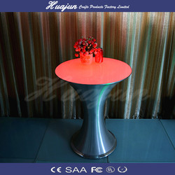 Multi color changing LED tables