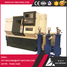 TCK45L Not Manual, Cheap CNC Lathe Machine with Turret, Chuck Tools