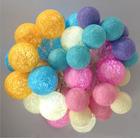 Festival RGBY bola de algodão decoração da bateria power light string