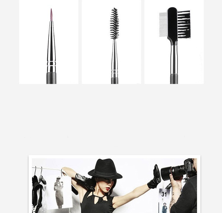 MSQ 2016 High-end Private Label 18pcs Black Make Up brush