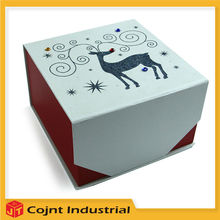 new style top quality high end red and white new desgin cardboard paper gift box