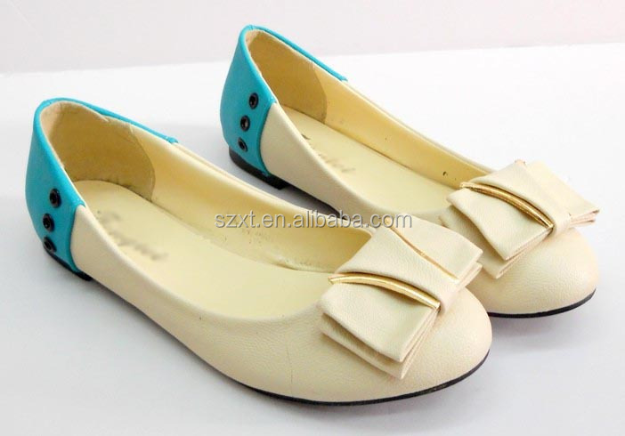 Classical women flats shoe PU flats shoes women flats factory