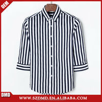 Wholesales men's casual stripe half sleeve shirt