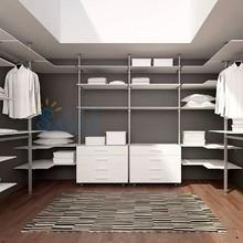 China supplier melamine wardrobe, aluminum wardrobe closet, bedroom corner wardrobe