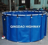 China PVC collapsible indoor water tanks fish farm