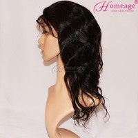 Homeage Different styles human hair wig with combs, remy hair wet and wavy cheap lace front wig
